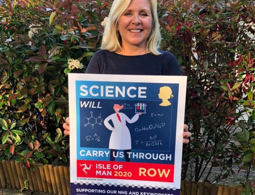 Lucy Hawking pictured with Science on a stamp and a message of hope!